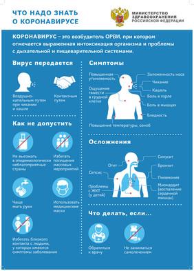 Заметки о коронавирусе. Инфографика с сайта стопкоронавирус.рф
