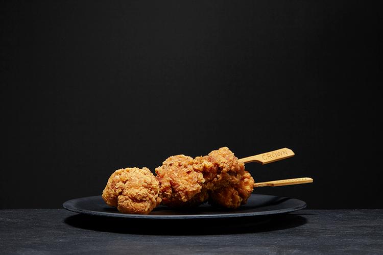 Battered Chicken Bites on Skewers, 75 gram