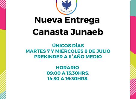 DISTRIBUCIÓN CAJAS DE ALIMENTOS JUNAEB PREKINDER A II° AÑO MEDIO