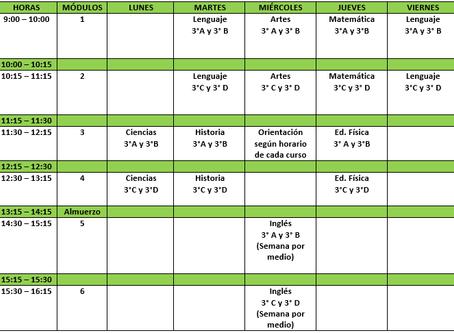 Informativo y protocolo de clases Online 3° y 4° Básico.