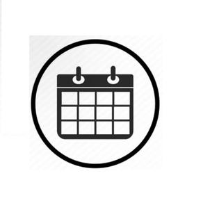 Calendario de evaluaciones de mes de mayo