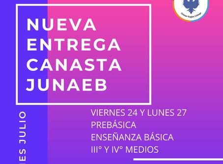 NUEVA ENTREGA CAJAS DE ALIMENTOS PREBÁSICA, ENSEÑANZA BÁSICA , III° Y IV° AÑOS MEDIOS