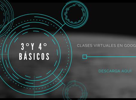 Nuevos horarios clases virtuales 3° a 8° Básico
