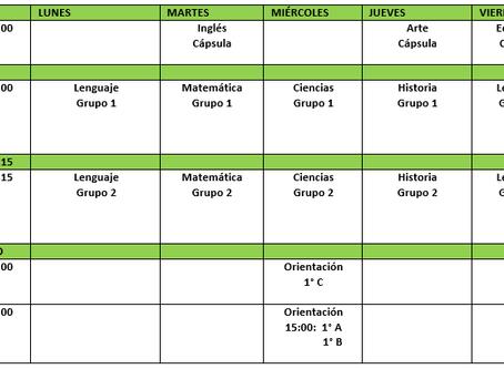 Informativo y protocolo de clases Online 1° y 2° Básico.