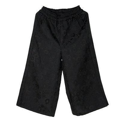 015 Wide-leg Cropped Pants (Floral)