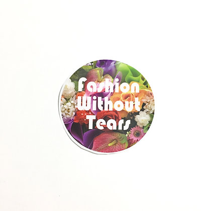 """""""Fashion Without Tears"""" Sticker"""