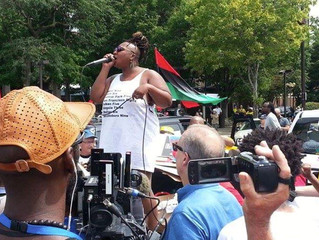 BLM protesters tell white media and supporteres to get in the back where they belong.