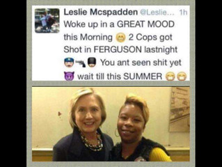 Mike Brown's mommy THRILLED when cops are murdered to speak to the DNC. GREAT CHOICE!