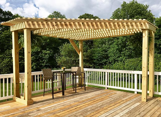 Look at this beautiful #cornerpergola th