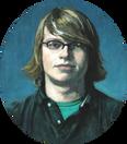 JEREMY MANN 2007, oil on canvas 18×16 in / 46×41 cm
