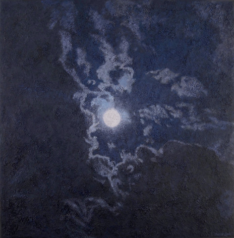 BUCK MOON 2016, oil on canvas 46×45 in / 117×115 cm