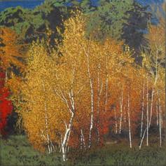 LAST LIGHT 2018, oil on canvas 47×47 in / 120×120 cm