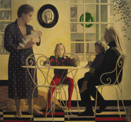 Family II 2000,  oil on canvas 50×54 in / 127×137 cm