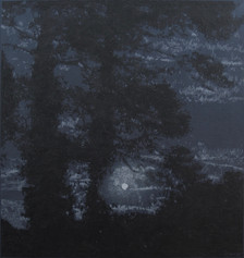 MOONRISE 2017, oil on canvas 47×45 in / 120×114 cm
