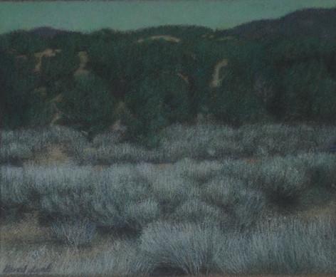 ARROYO 2007, pastel 6×7 in / 15×19 cm