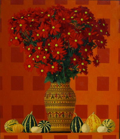 MARGUERITES 2004, oil on canvas 30×26 in / 76×66 cm