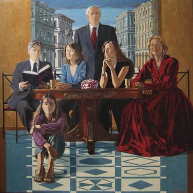 THE SIMONARDS 2006, oil on canvas 51x51 in / 130X130 cm