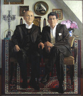 DIMITRI AND BERTRAND 2012, oil on canvas 46×39 in / 116×100 cm