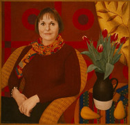 PASCALE BERNER 2001, oil on canvas 39×41 in / 99×104 cm