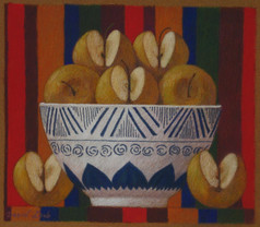 BOWL OF CANADA APPLES 2011, pastel 7×8 in / 18×21 cm