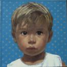 EUGENIE BONDIN 2008, oil on canvas 11×11 in / 28×28 cm