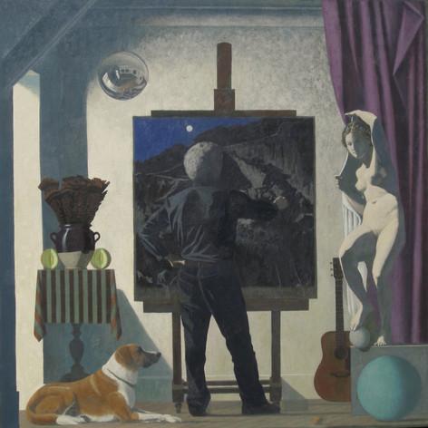 STUDIO 2014, oil on canvas 57×57 in / 146×146 cm