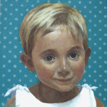 CLÉMENTINE BONDIN 2008, oil on canvas 11×11 in / 28×28 cm