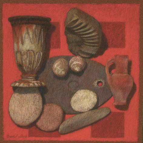 REMNANTS 2011, pastel 8×8 in / 20×20 cm
