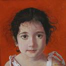 IRENE STAVROS 2006, oil on canvas 11×11 in / 28×28 cm