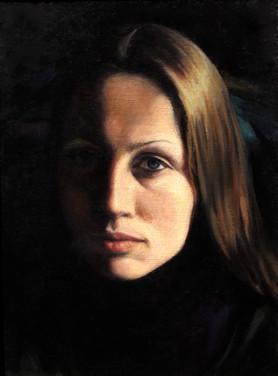 ANNE SERVANTON 1983, oil on canvas 14×11 in / 36×28 cm