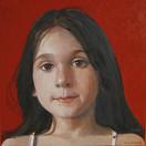 DANAE STAVROS 2006, oil on canvas 11×11 in / 28×28 cm