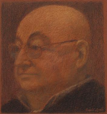 GEORGES SERVANTON 2011, pastel 6×5 in / 15×14 cm
