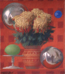 MUMS AND SPHERES 2009, pastel 8×7 in / 21×19 cm
