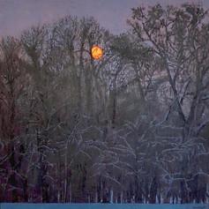 WINTER DAWN II 2018, oil on canvas 39×39 in / 100×100 cm