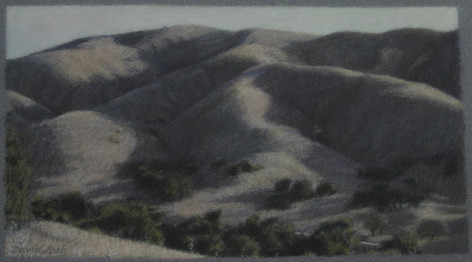AGOURA HILLS 2010, pastel 5×9 in / 13×24 cm