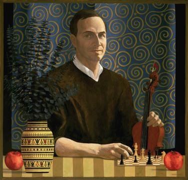 RICHARD BERNER 2001, oil on canvas 39×41 in / 99×104 cm