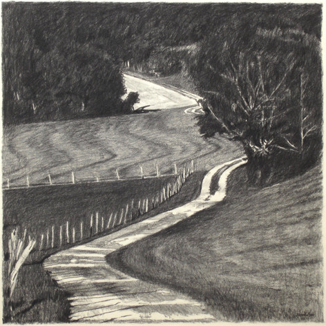 JURA ROAD 2017, charcoal 24×24 in / 60×60 cm