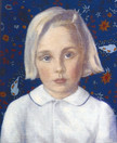 MOLLIE DEVINS 2003, oil on canvas 15×12 in / 38×30 cm