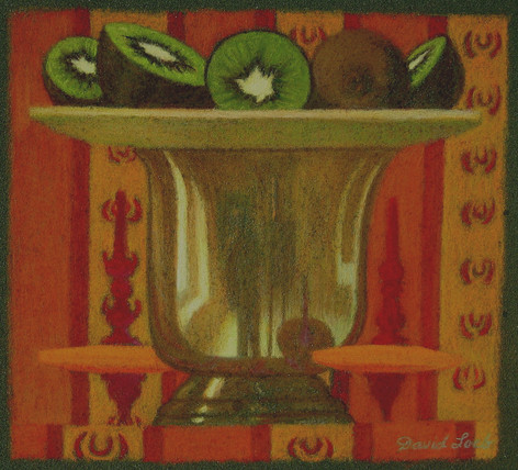 GOBLET AND KIWIS 2006, pastel 4¾×5 in / 12×13 cm