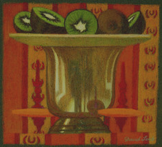 GOBLET AND KIWIS 2006, pastel 4¾×5 in / 12×13 cm