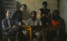 BROOKLYN MASTERS 1990, oil on canvas 52×89 in / 132×226 cm