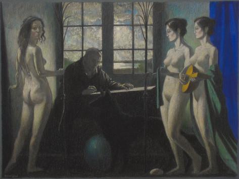 ARTIST & MUSES, '20, pastel, 57X77cm cro