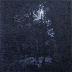 NIGHT GLADE 2017, oil on canvas 39×39 in / 100×100 cm