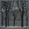 MORNING SNOW 2011, pastel 8×8 in / 20×20 cm