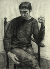 BEN BRYANT 1981, charcoal 30×22 in / 76×56 cm