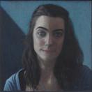 MARINE LEFRANC 2014, pastel 8×8 in / 20×20 cm