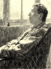 STEFAN FALKE 1998, charcoal 26×20 in / 66×51 cm