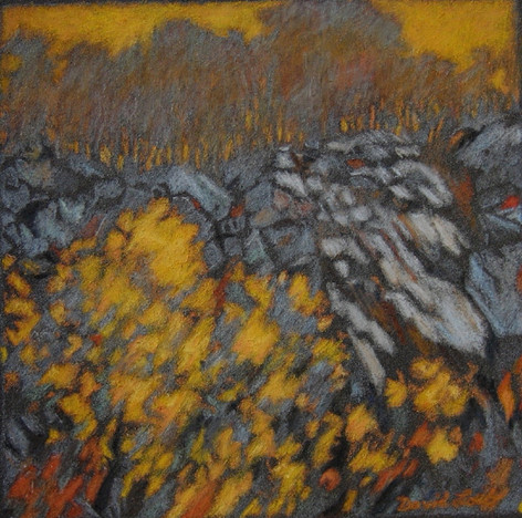 ASCENT 2005, pastel 6×6 in / 15×15 cm