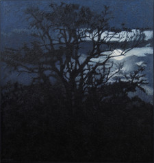 WOLF MOON 2017, oil on canvas 47×45 in / 120×114 cm