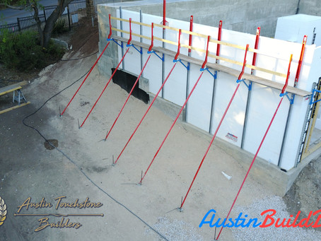 Austin Touchstone Builders - First Level ICF Nearing Completion